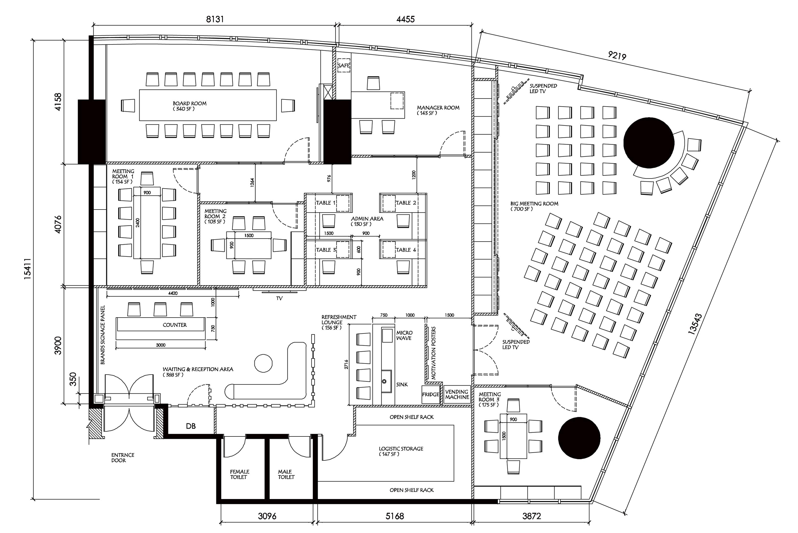 Furniture Layout Plan Fabron Design Interior Drawings Service Online